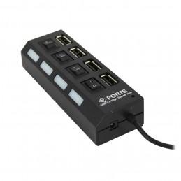 USB HUB 4 PORT + SWITCH SUPPORT 500GB 2.0