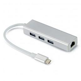 TYPE-C TO USB HUB 3 PORT 2.0 + 1 LAN PORT
