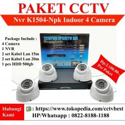 PAKET CCTV 4 Kamera IP Lengkap