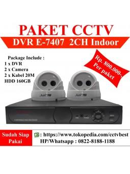 Paket CCTV 2 Kamera Analog Lengkap