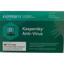 Kaspersky Anti Virus 2019 1 user