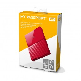 HDD EXT WD MY PASSPORT 1TB RED