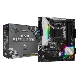 MB AM4 ASROCK B450M STEEL LEGEND (DDR4)
