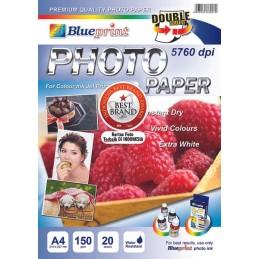 BLUEPRINT A4 150gsm DS PHOTO PAPER ( raspberry )
