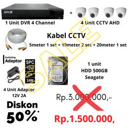 Paket CCTV 4 Kamera AHD 2MP