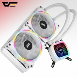 Fan Processor Liquid Cooler Darkflash DT240 White
